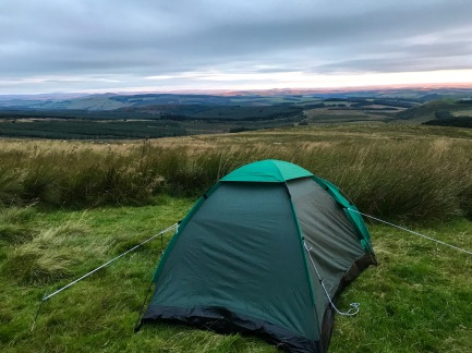 Our tent in Scotland.