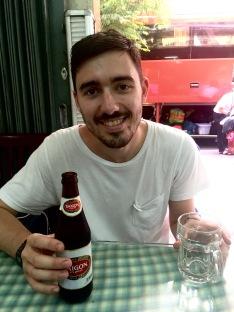 Saigon beer in Saigon.