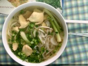 Pho, best soup in the world. Saigon, Vietnam.