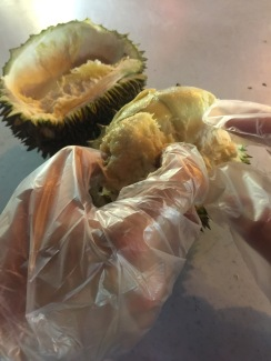 Durian tasting.