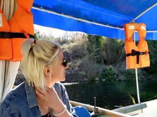 On Nikolai's boat.