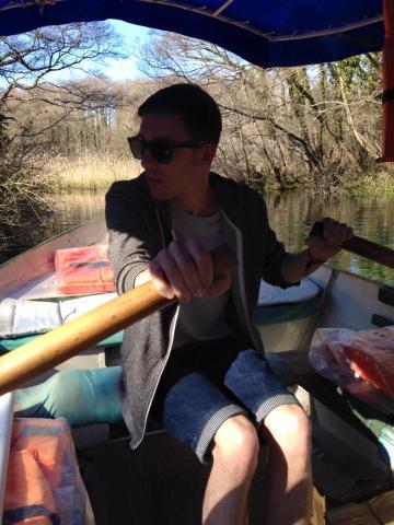Lewis on Nikolai's boat.